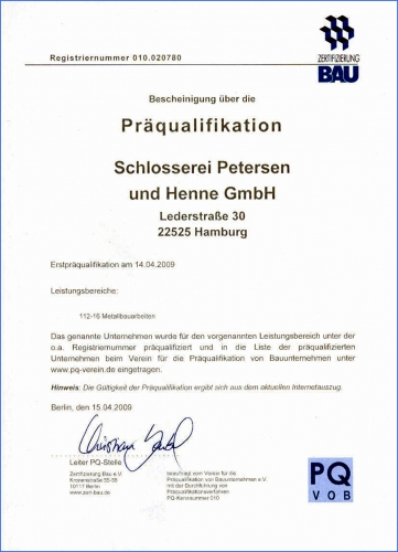 Präqualifikation-P&H