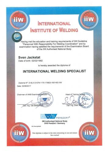 Zertifikat IWS